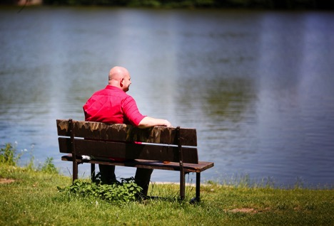 All About August - Man On Park Bench