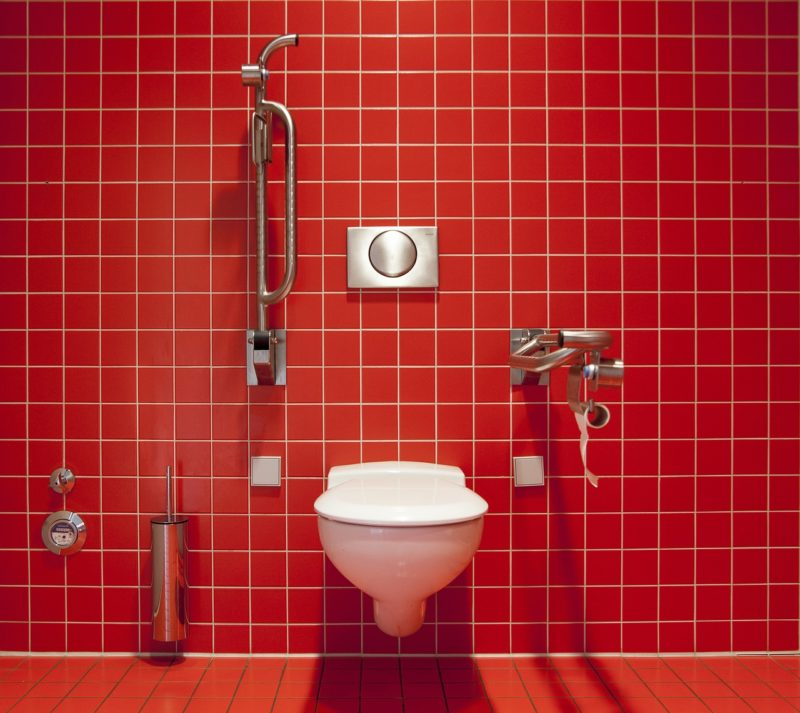 Clean T.O 5 Tips Public Restrooms Picture of Red Restroom