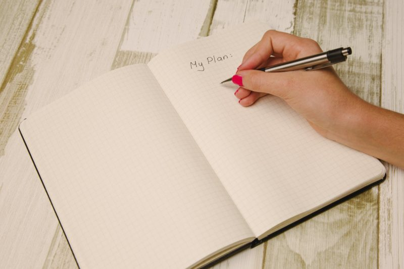 4 Habits to Keep Your Bathroom Spotless notebook