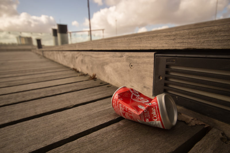 Does Toronto Have a Litter Problem? Coke Can