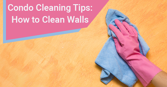 cleaning condo walls