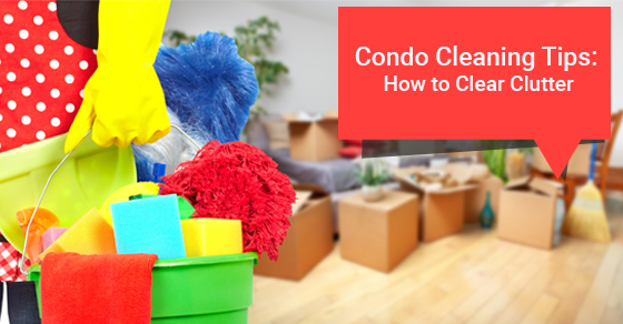 cleaning condo clutter
