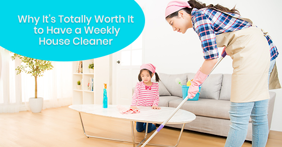 House cleaning during weekly days
