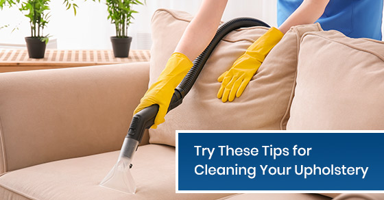 Cleaning tips for your upholstery