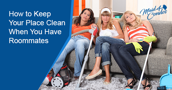 How to keep your place clean when you have roommates