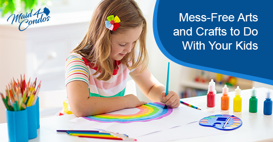 Mess-free arts and crafts to do with your kids