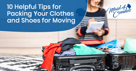 Packing tips for your clothes and shoes while moving