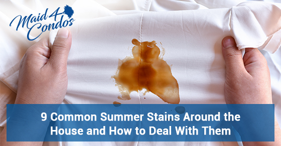 Summer stains and tips to get rid of them