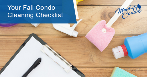 Checklist for fall condo cleaning